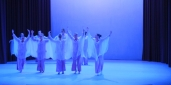 Eurythmie Vivaldi Farbe Licht Schleier Raum